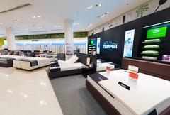 mattresses and pillows for sale, Siam Paragon mall, Bangkok - stock photo