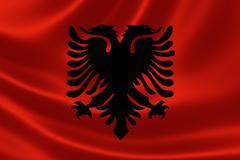 Flag of the Republic of Albania - stock illustration