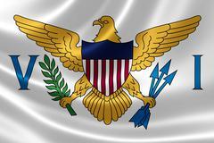 Flag of the United States Virgin Islands Stock Illustration