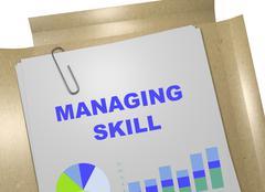 Managing Skill business concept - stock illustration