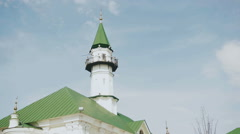 Timelapse of clouds moving over the Mardjany mosque in Kazan, Tatarstan Stock Footage