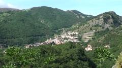 Ancient village of Roccamandolfi, Isernia Molise Stock Footage