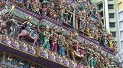 4k Sri Veeramakaliamman Temple in Little India, southern part of Singapore-Dan Stock Footage