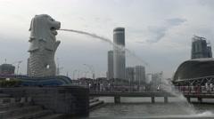 4k The singapore Merlion -Dan Stock Footage