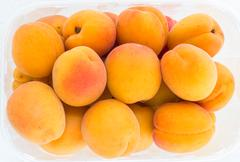 Biological apricots Stock Photos