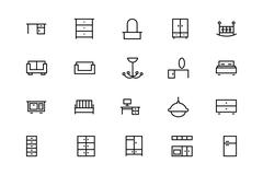 Buildings and Furniture Icons Pack Piirros