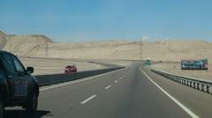 Road into the Atacama desert Stock Footage