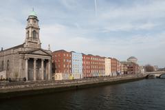 Saint Paul's Church and River Liffey in Dublin Kuvituskuvat