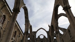 CARMO CHURCH And CONVENT RUINS Stock Footage