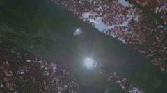 Springtime Red Maple Tree Snow Peak Mountains Lake - 25FPS PAL - stock footage