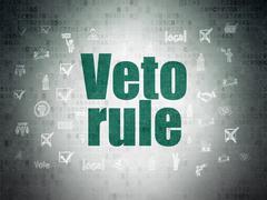 Political concept: Veto Rule on Digital Data Paper background Stock Illustration