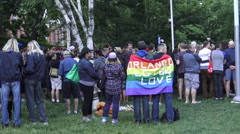 Candlelight Vigil in Toronto for Victims of Mass Shooting at Orlando, Florida Stock Footage