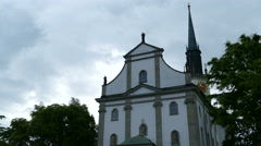 St Jakob Church in Cham, Switserland Stock Footage