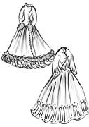 Historical clothes Stock Illustration