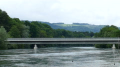 Bridge over Limmat in Geroldswill Stock Footage