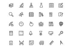 School and Education Line Vector Icons Set Piirros