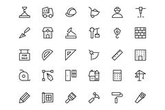 Construction Vector Icons Stock Illustration