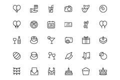 Celebration Vector Icons - stock illustration