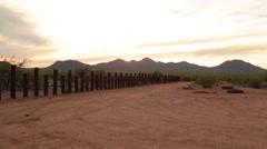 Sun setting behind the mountains of the Arizona desert (2) Stock Footage