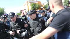 Protestors Arrests Stock Footage