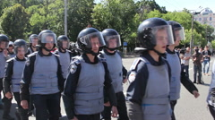 special police force in Kiev - stock footage