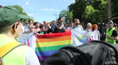 LGBT Equality Parade in Kiev Stock Footage