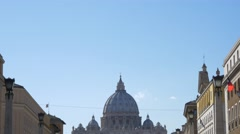 4k UHD Saint Peter Cathedral in Rome holidays destination Stock Footage