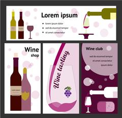 Design for wine event, shop, club Stock Illustration