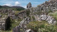 Medieval village of Roccamandolfi, Isernia Molise Stock Footage