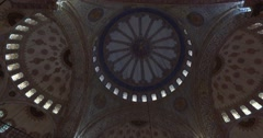 Blue Mosque in Istanbul, a cultural monument and place of worship for Muslims Stock Footage