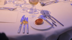 Dinning Table At A Gala Stock Footage