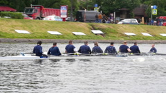 Boats kayaks.Rowing competitions. Stock Footage