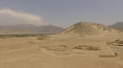 CARAL, Peru. Aerial of the oldest urban center in America Stock Footage