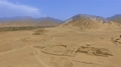 Aerial of CARAL in Peru, South America Stock Footage