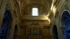 4k roman church rome city religion Stock Footage