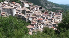 Roccamandolfi small town in the province of Isernia, Molise Italy Stock Footage