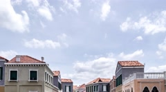 Cloud time lapse over vintage town Stock Footage