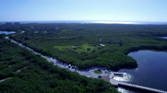 Aerial of Wheedon Island Preserve in Florida Stock Footage