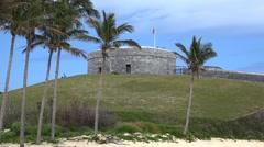 St. Catherine Fort. St. George's Island, Bermuda Stock Footage