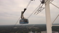 Ropeway in Stone Mountain National Park - stock footage