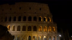 4k Colosseum Rome Italy Roman Coliseum famous Italian landmark travel night  Stock Footage