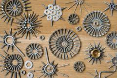 screw, nails, bolt. - stock photo