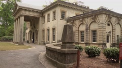 The Swan House as a part of Atlanta History Center Stock Footage