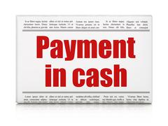 Currency concept: newspaper headline Payment In Cash - stock illustration