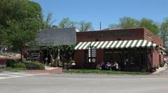 Senoia Coffee and cafe in Senoia Georgia Stock Footage