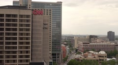 Atlanta Downtown - the CNN Headquarter Stock Footage