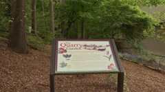 The Quarry Garden at Atlanta History Center - stock footage