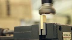 Metal work grinding cnc machine Stock Footage