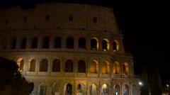 4k Colosseum Rome Italy Roman Coliseum famous Italian landmark travel night  Stock Footage