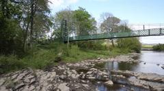 Bridge over Scottish River Tummel Pitlochry Scotland UK Stock Footage